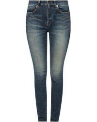 Saint Laurent - Tapered Leg Jeans - Lyst