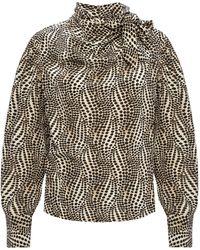 Isabel Marant Long Sleeve Top Beige - Brown