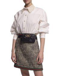 Ferragamo Gancini Quilted Leather Belt Bag - Black