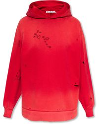 Acne Studios Embroidered Hoodie - Pink