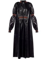 Loewe Leather Dress - Black