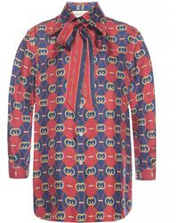 Gucci All-over Printed Shirt - Red