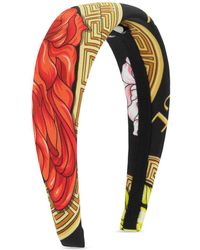 Versace Headband With Logo - Multicolor