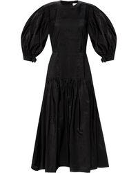 Jil Sander Flared Dress Black