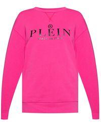Philipp Plein Sweatshirt With Logo Pink