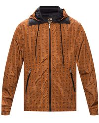 MCM Rain Jacket With Logo Brown