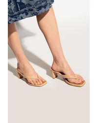 Samsøe & Samsøe Heeled Flip-flops Beige - Natural