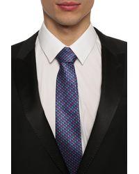 Lanvin Tie & Pocket Square Set Navy Blue
