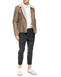 AllSaints 'coleman' Shearling Jacket Beige - Natural