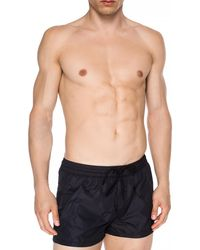 DIESEL Printed Logo Swimming Shorts - Black