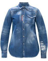 DSquared² Raw Edge Shirt - Blue