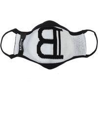 Balmain Face Mask With Logo Unisex Black