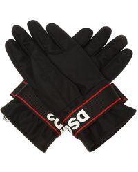DSquared² Branded Ski Gloves Black