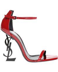 Saint Laurent - Opyum Leather Sandals - Lyst