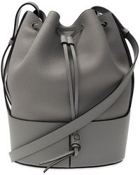 Loewe Small Balloon Leather Bucket Bag - Gray