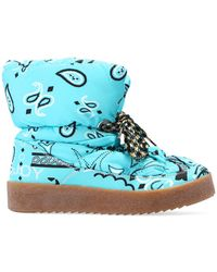 Khrisjoy Snow Boots With Paisley Motif - Blue