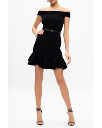 Alexander McQueen - Ruffle Dress Black - Lyst