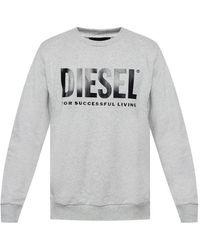 DIESEL Sweatshirt With Logo - Grey