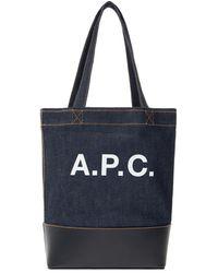 A.P.C. 'axel Small' Shopper Bag - Black