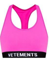 Vetements Cropped Training Top - Pink