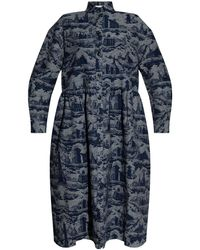 Samsøe & Samsøe Patterned Dress Navy Blue