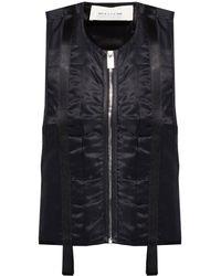 1017 ALYX 9SM Zip-up Vest - Black