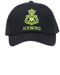 Iceberg Branded Baseball Cap - Blue