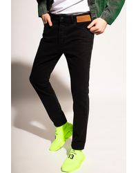 Palm Angels Jeans With Logo Black