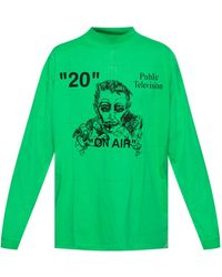 Off-White c/o Virgil Abloh Public Television Sweatshirt - Green