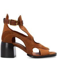 Chloé Cut-out Court Shoes - Brown