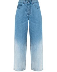 Marni Jeans With Ombre Effect Navy Blue