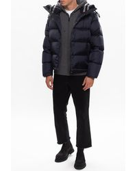 Burberry Hooded Down Jacket - Blue