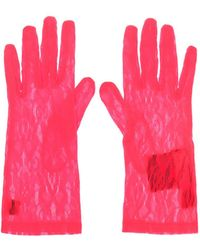 Gucci Lace Gloves - Pink
