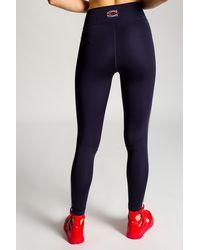 COACH Leggings With Logo - Blue
