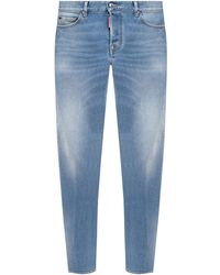 DSquared² 'slim Jean' Jeans With Logo - Blue
