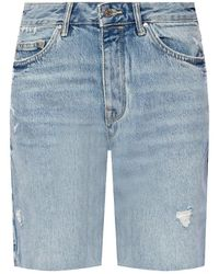 AllSaints 'barry' Denim Shorts Light Blue