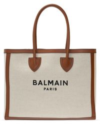Balmain Shopper Bag - Natural