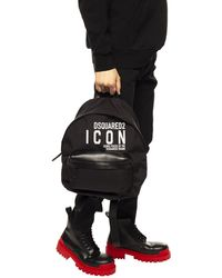 DSquared² Black Icon Backpack