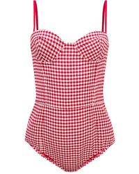 RED Valentino Patterned Body On Straps - Red
