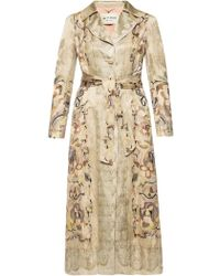 Etro - Embroidered Coat - Lyst