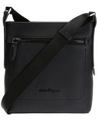 Ferragamo 'firenze' Shoulder Bag - Black