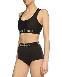 Palm Angels Swimsuit Bottom Black