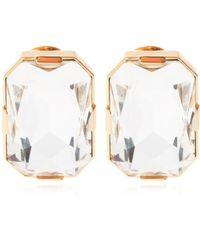 Moschino Clip-on Zirconia Earrings - Metallic