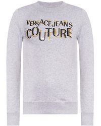 Versace Jeans Couture Sweatshirt With Logo - Grey