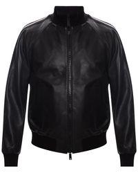 DSquared² Leather Jacket Black