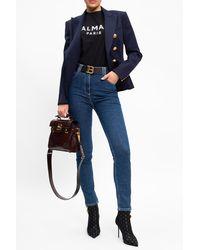 Balmain High-waisted Jeans - Blue