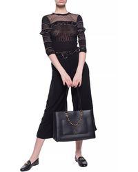 Michael Kors Paperbag - Waist Pleated Culottes - Black