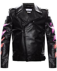 Off-White c/o Virgil Abloh Biker Jacket Black