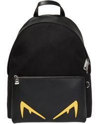 Fendi Eyes Motif Backpack - Black