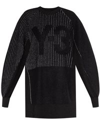 Y-3 Jumper With Reflective Pattern - Black